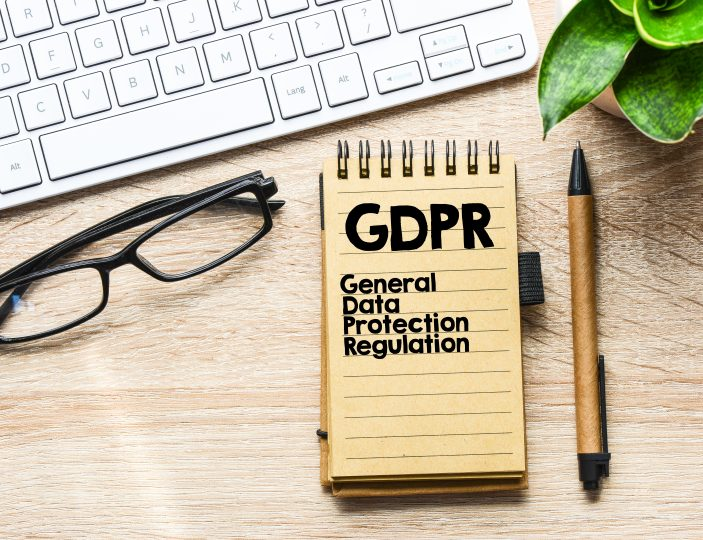 GDPR / General Data Protection Regulation text concept